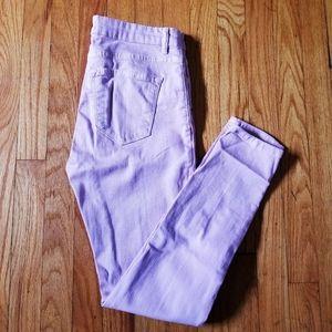 ZARA 5 Pocket Skinny Jeans Blush Pink 6